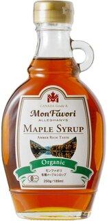 Amazon   モンファボリ オーガニック メープルシロップ 250g 瓶 [ 有機JAS 認証 カナダ産 グレードA アンバーリッチテイスト ]   Mon Favori(モンファボリ)   メープルシロップ 通販 (187332)