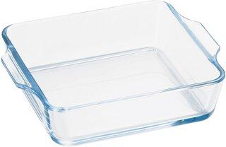 Amazon|アデリア 耐熱ガラス グラタン皿 最大19.3×16.4×高4.5cm ベイクック ロースタースクエア 800ml オーブン レンジ 対応 H3850|グラタン皿 オンライン通販 (187342)