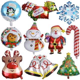Amazon | CCINEE クリスマスアルミバルーン(10個セット) クリスマス飾り付け (187840)