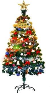 Amazon | YACONE クリスマスツリー 150cm 高級 ツリー 180cm 電飾つき (187851)