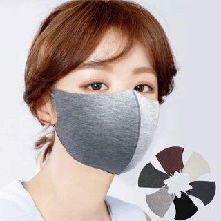 Amazon | 秋冬用マスク 洗える無地マスク  息がしやすい 蒸れない 耳紐アジャスター付き 4枚入り  (187899)