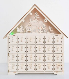 Amazon | クリスマス 飾り 光るアドベントカレンダー 2020 木製 照明付き 日替わりカレンダー | クリスマス雑貨 | おもちゃ (187956)