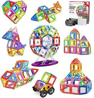 Amazon | Jasonwell 108pcs マグネットブロック 磁気おもちゃ (188158)