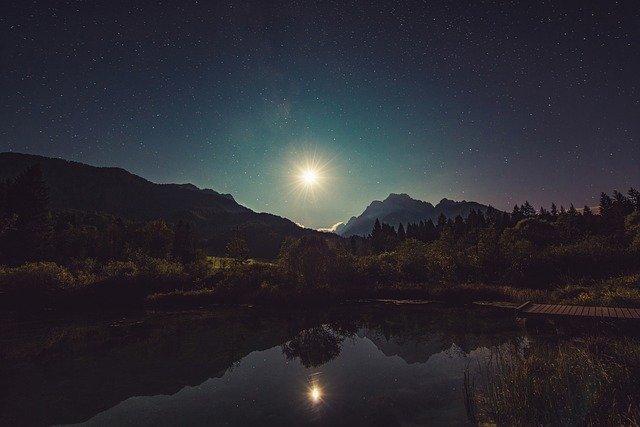 Moonshine Lake Reflection - Free photo on Pixabay (6816)