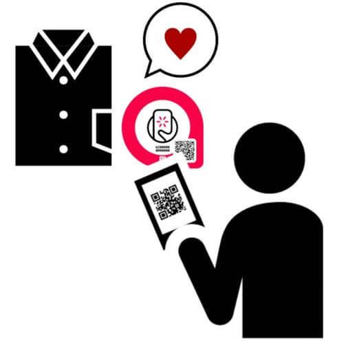 ※NFCタグスマートプレート使用イメージ
