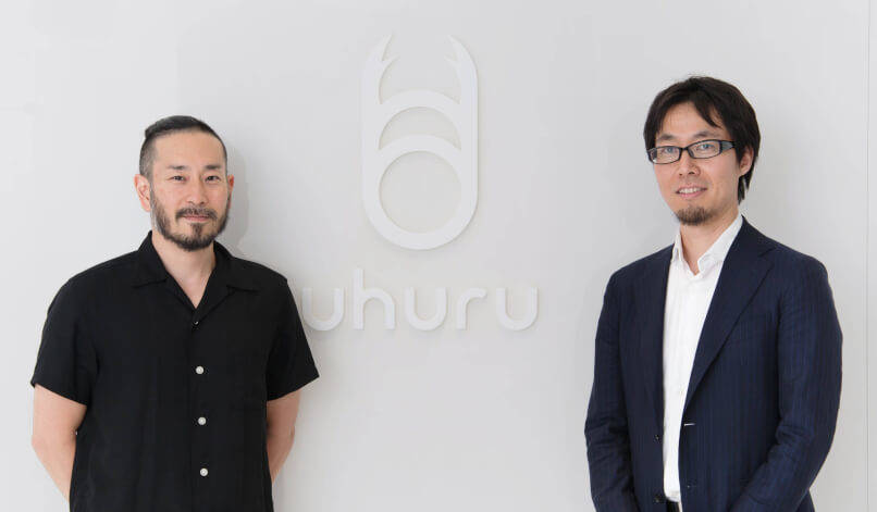 (左)取締役 CSO 田中正道 、(右)執行役員 X United事業本部長 坂本尚也