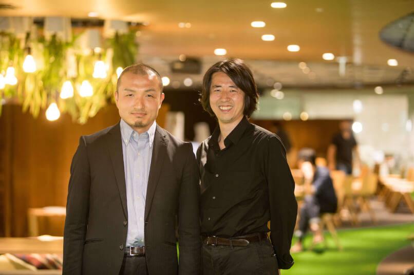(左)執行役員 デジタルイノベーション事業本部長 吉原庄三郎、(右)デリバリーイノベーション本部 本部長 小松哲平