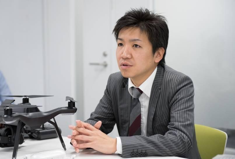 ドローン&ロボティクスマーケティング室 湯浅昭吾さん
