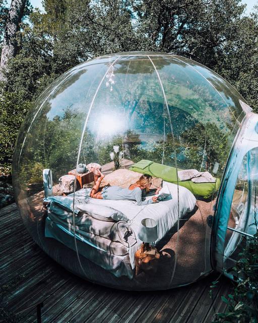 360°自然に包まれる!透明ドームホテルに泊まりたい