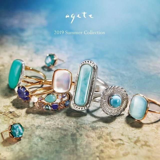 ブルーの天然石が彩る夏のジュエリー。アガット 2019 Summer Collection