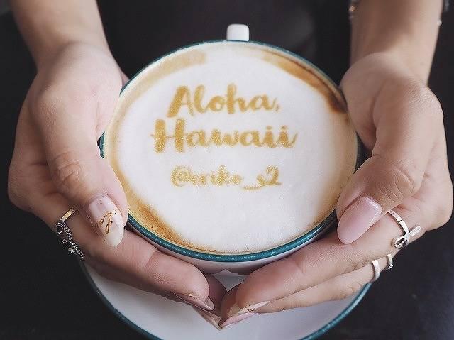 好きな画像がラテアートに!?ハワイでオリジナルのラテが作れるカフェ♡