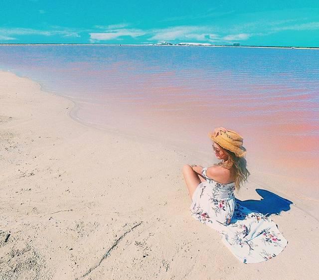加工ナシでもピンクの絶景♡メキシコにあるピンクラグーンがかわいすぎる!