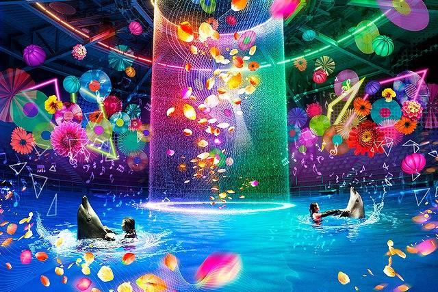 こんなカラフルなハロウィーンイベントは初めて♡水族館×デジタルアートの幻想的な世界!