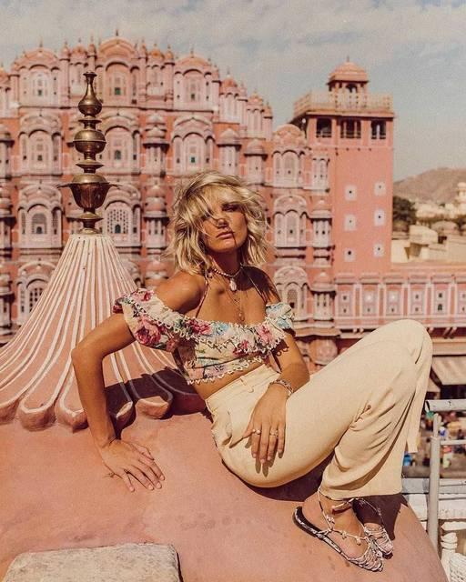 ピンクのパレス「風の宮殿」をおしゃれに切り取る絶好の場所