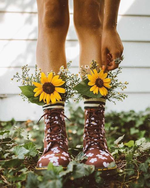 斬新!?足元にお花はこんなにかわいい♡