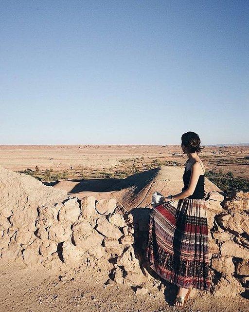 サハラ砂漠への入り口!茶色に染まる世界遺産の街
