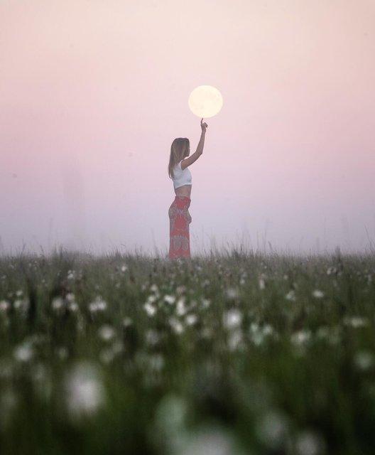 撮り方は自由♡太陽と月と私の物語