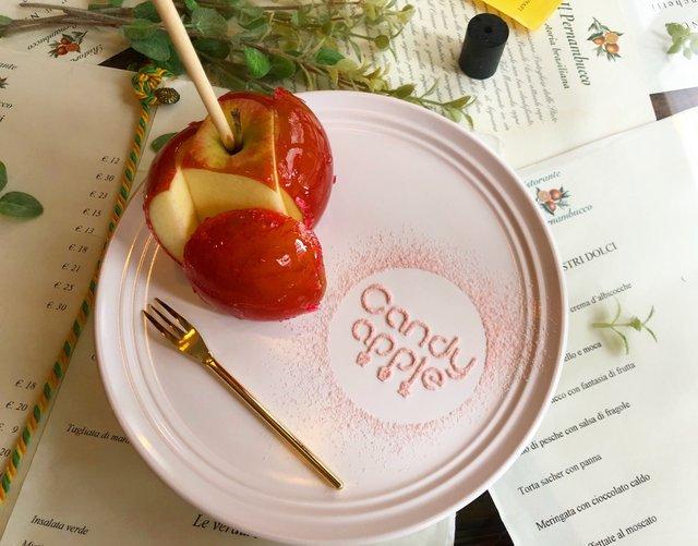 キュートなりんごの本格スイーツ♡りんご飴専門店カフェがオープン!
