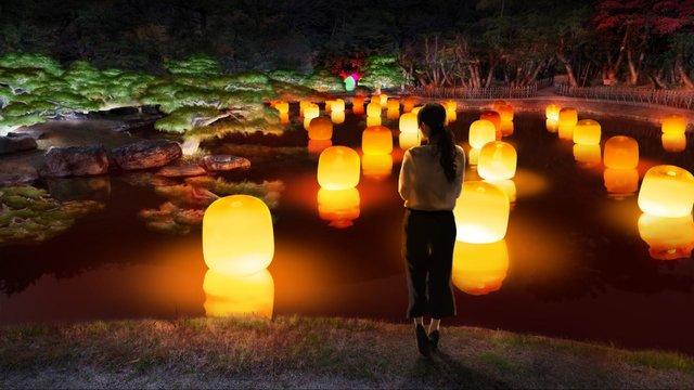 日本庭園が光のアートに♡香川県 高松で「チームラボ 栗林公園 光の祭」が開催!