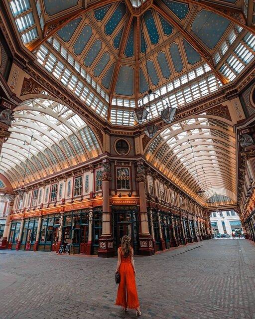 ロンドン最古の商店街、レドンホールマーケット