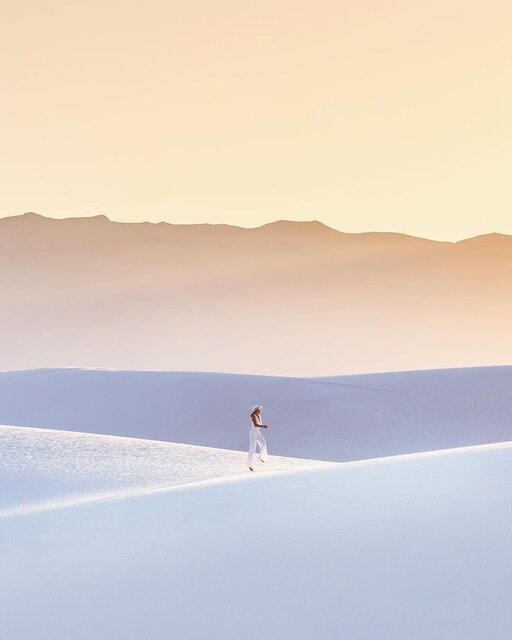 アメリカの白い絶景スポット「ホワイトサンズ国立公園」