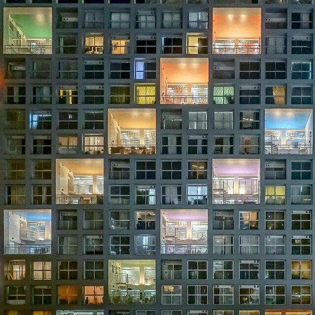夜に際立つ美しさ「東雲キャナルコートCODAN」で特に人気のフォトスポット