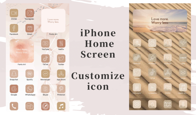 iPhone ホーム画面のアイコンをおしゃれで、シンプルな画像に!探し方や作成の方法をご紹介/yucoの加工レシピ Vol.54
