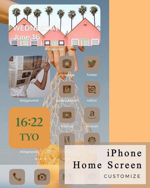 iPhoneのホーム画面を「シンプル」「可愛い」「カラフル」「レトロ」の4つのテーマでyucoが編集!/yucoの加工レシピ Vol.56