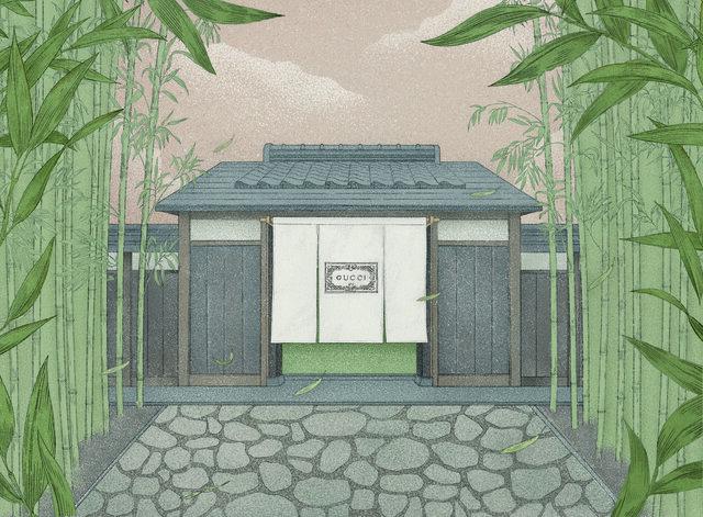 グッチがブランド創設100周年を祝し、京都で体験型エキシビション「グッチ バンブーハウス」を開催