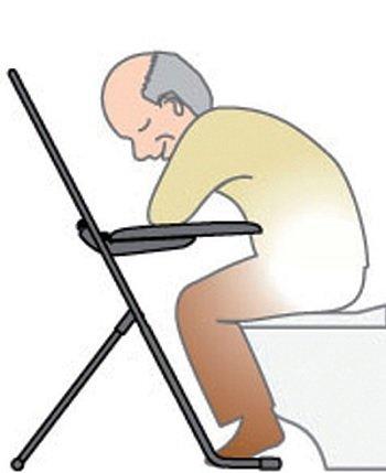 あかね福祉「トイレ安楽タイム」 排泄時の前傾姿勢を保持