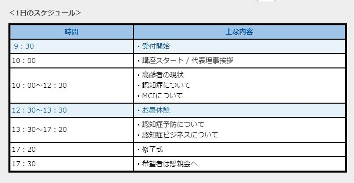 MCI専門士資格講座《大阪》