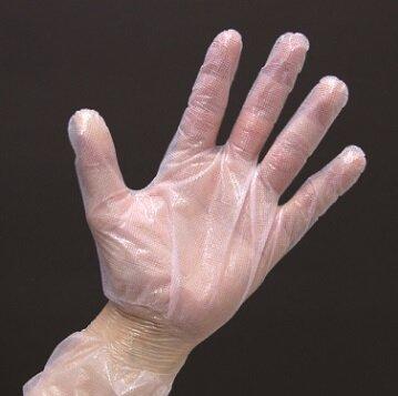 国内製造の安心・安全なポリ手袋 精宏「サクラメン手袋」