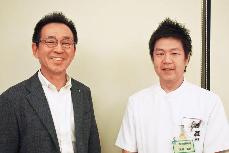 古河薬剤師会・高橋真吾会長(右)と宇田和夫副会長