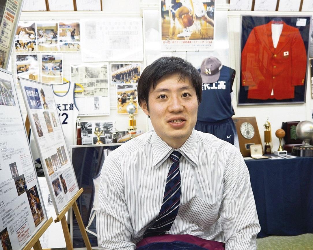 バスケミュージアムの運営を担当する小野弘樹さん