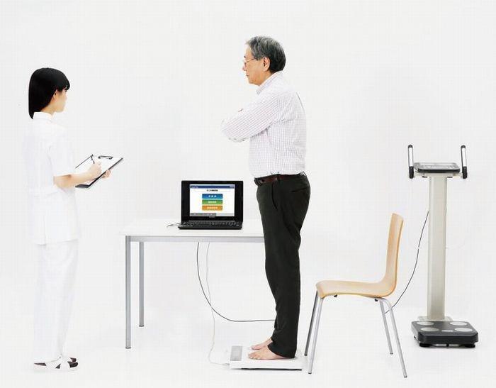 運動機能分析装置と連動させれば、フレイルの状態を150点満点で評価できる
