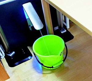 微酸性電解水を生成し、取り出すこともできる