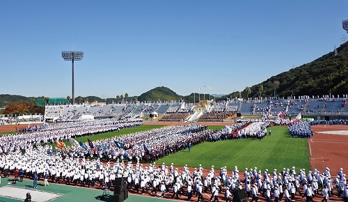昨年の和歌山大会開会式入場行進