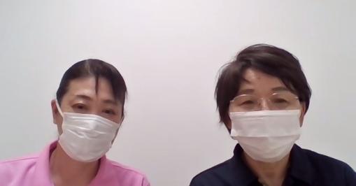 「浅野相談員、窪田施設長(味酒野ていれぎ荘)」