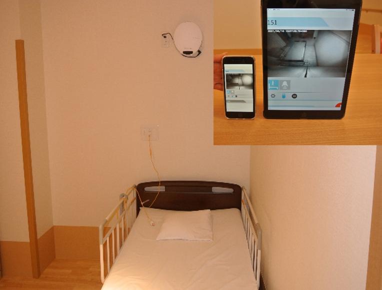 離床など検知すると自動で映像が 表示され、その場で確認できる