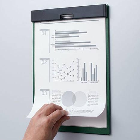 書類をめくったまま固定できる「マグフラップ」に新サイズが登場|KINGJIM