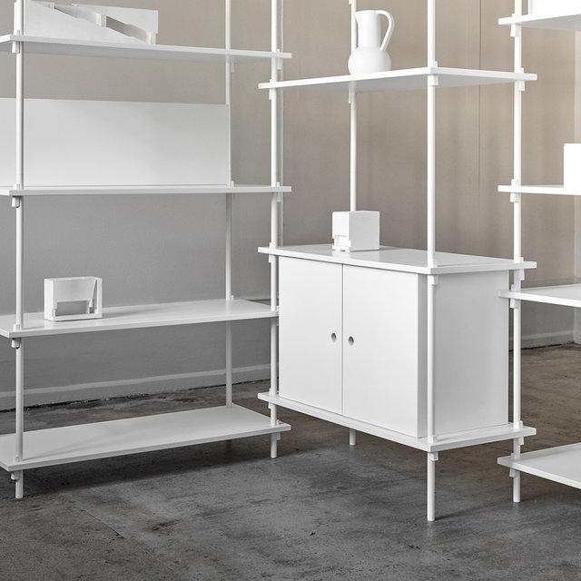 自由自在に構築できる革新的ラックに新色とオプションパーツが登場|MOEBE