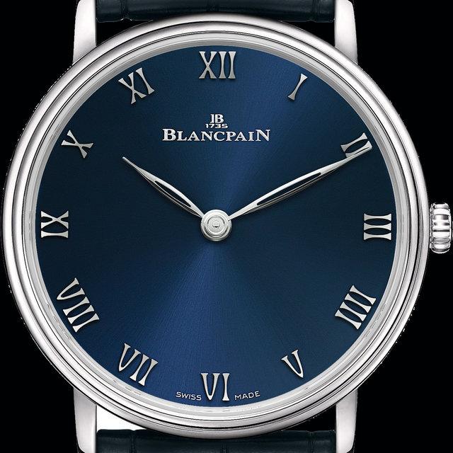 ブランパンがプラチナ製「ヴィルレ ウルトラスリム」を発表|BLANCPAIN