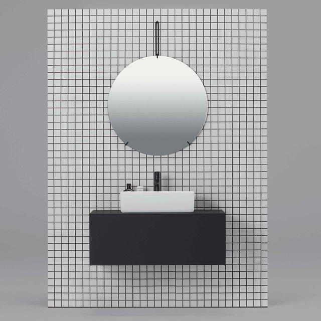 最小限の線と面で構成した洗面下台「リクレール」が発売|sanwacompany