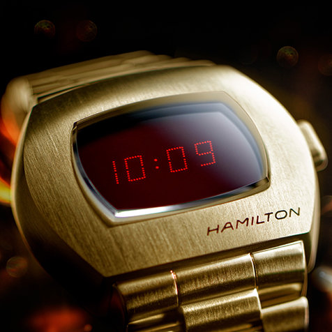 時計史に燦然と輝く世界初のLEDデジタルウオッチ「ハミルトン PSR」が復刻|HAMILTON