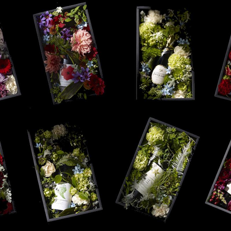ワイン雑誌WINE WHATと恵比寿「arbluem」がコラボレーション。母の日に向けた花とワインのギフトセットが誕生|EAT