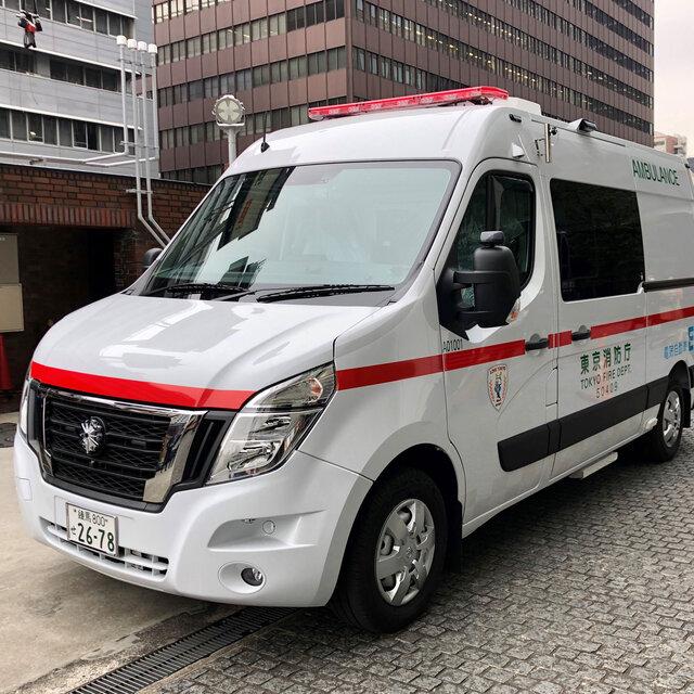 日産が日本初のEV救急車を東京消防庁に納車|Nissan
