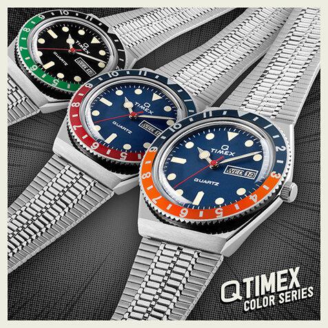 「タイメックス キュー」に新色2モデルが登場|TIMEX