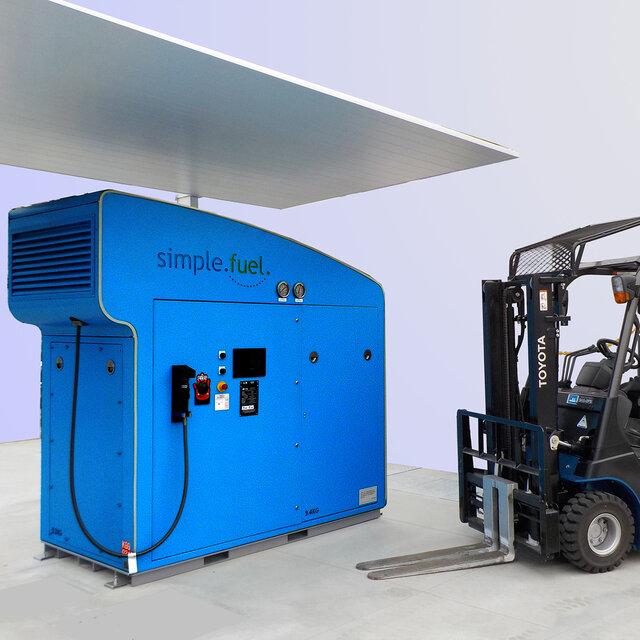 太陽光発電で水素を製造・貯蔵・供給する「シンプルフューエル」をトヨタが導入|TOYOTA