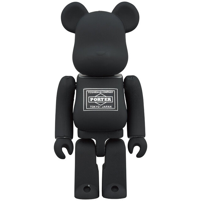 PORTER × BE@RBRICK BLACK/SILVER 100%