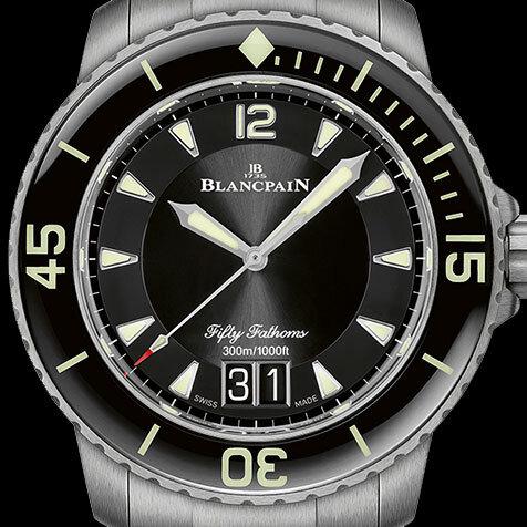 ブランパンの「フィフティ ファゾムスラージデイト」がチタン製ブレスレットで登場 BLANCPAIN